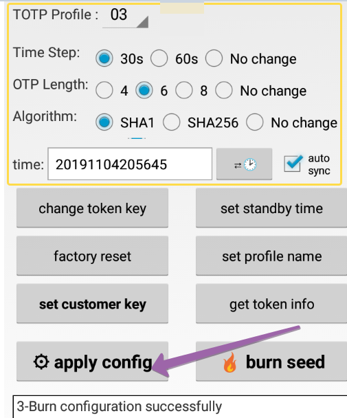 TOKEN2 NFC Burner for Molto1 - Android App