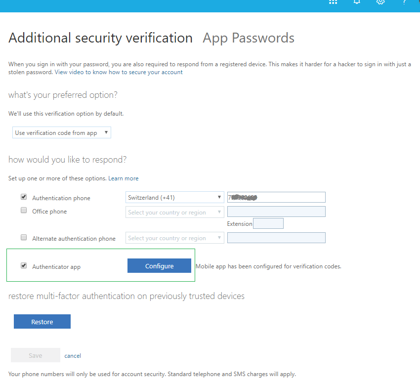 Tokens matériels MFA pour Office 365 / Multi-factor authentication pour cloud Azure