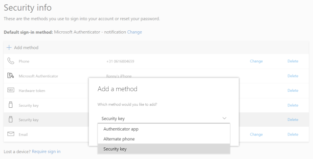 Passwordless authentication in Azure AD with Token2 FIDO2 keys