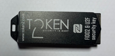 Token2 T2F2-NFC FIDO2, U2F and TOTP Security Key
